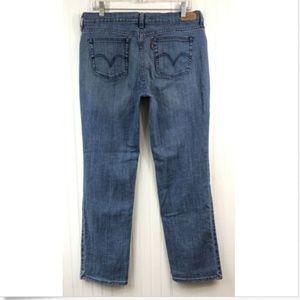 Levi's 505 Straight Leg Jeans W12 L31 Blue Stretch